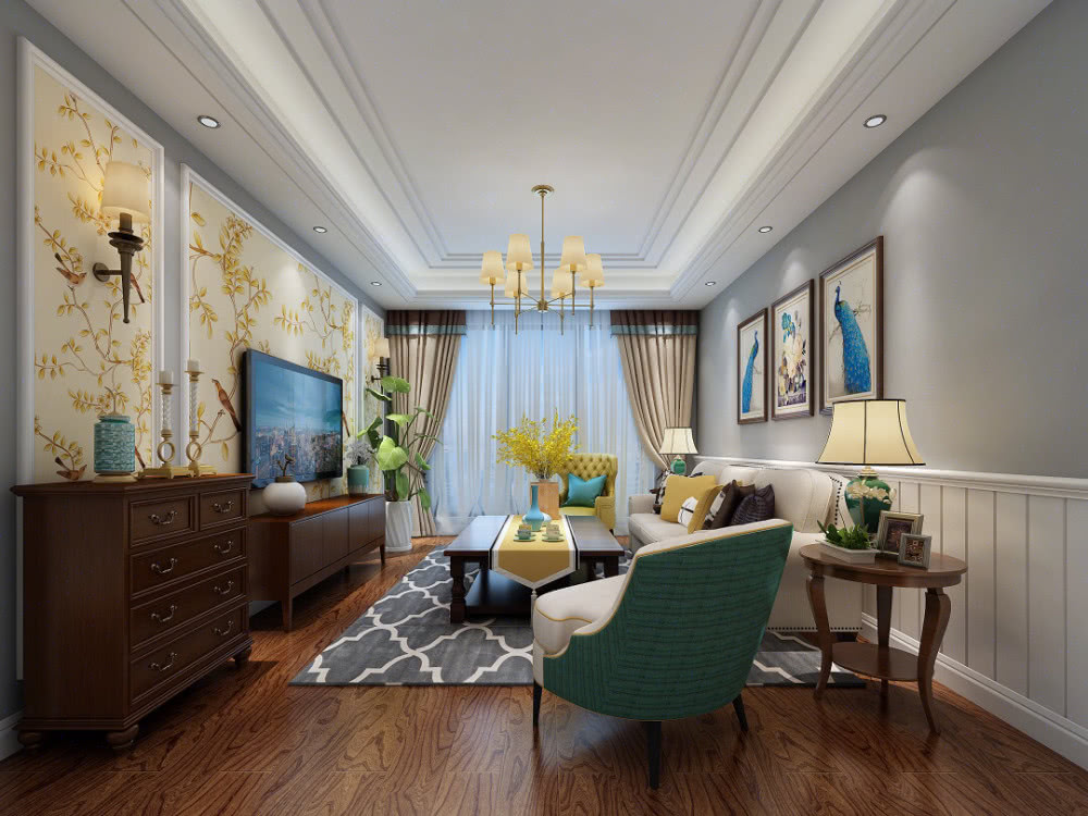 18 American style living room renderings, nice and practical!