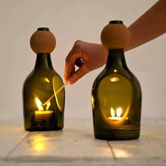 The discarded empty bottles that you throw away, you certainly don't know, they were made into lamps with a price of 1,000 yuan.