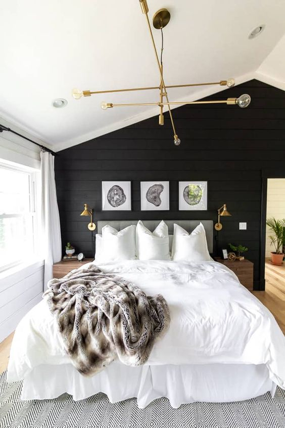37 The Beauty of Simplicity — Black and White Home Design home design, bedroom with black and white, living