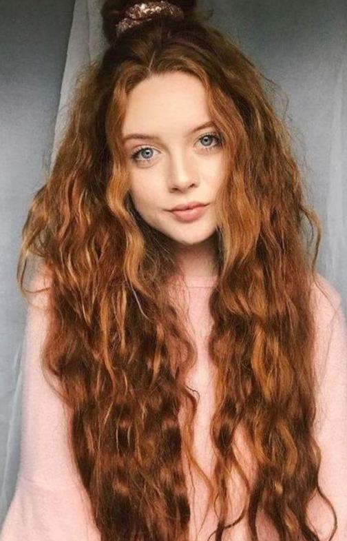 35 Fashionable Curl Hairstyles will be Trendy  curly hair, hairstyles, fashionable hair
